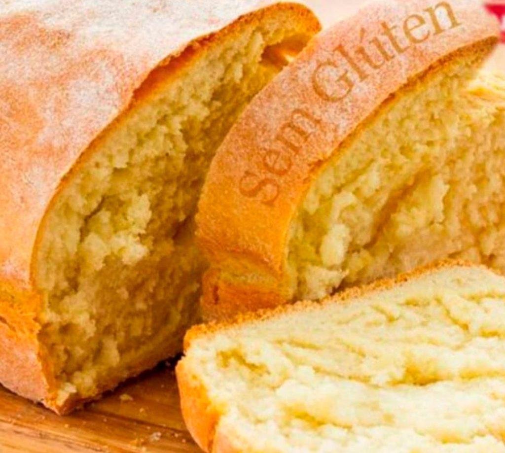 Pão caseiro sem glúten de liquidificador